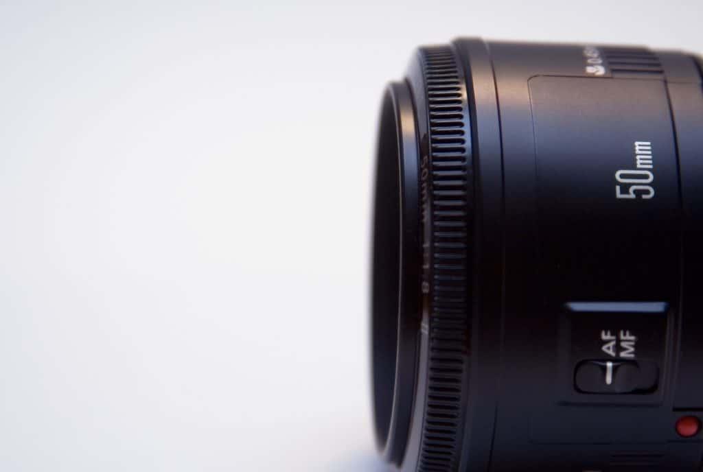 brandpuntafstand 50mm lens