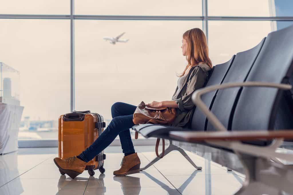 handbagage op luchthaven