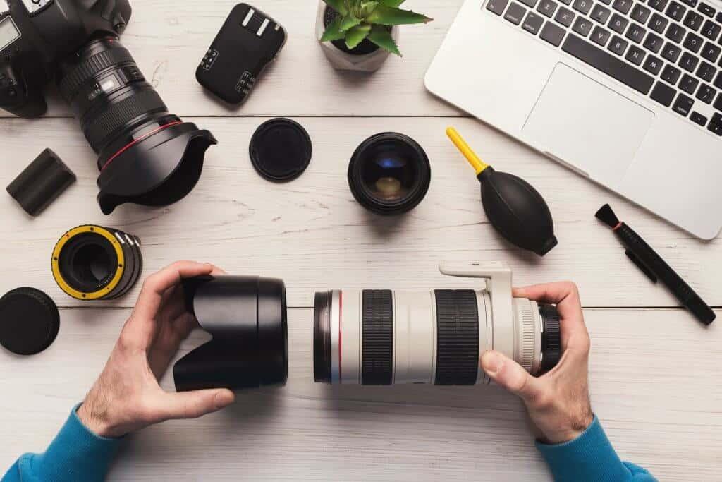 Camera sensor schoonmaken lens