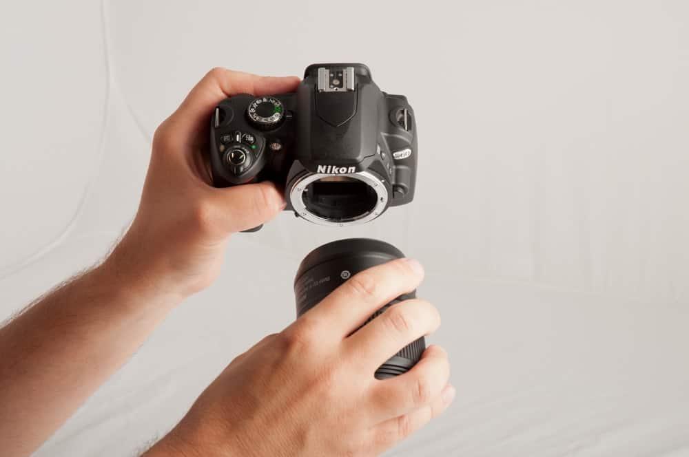Nikon sensor reiniging lens verwijderen