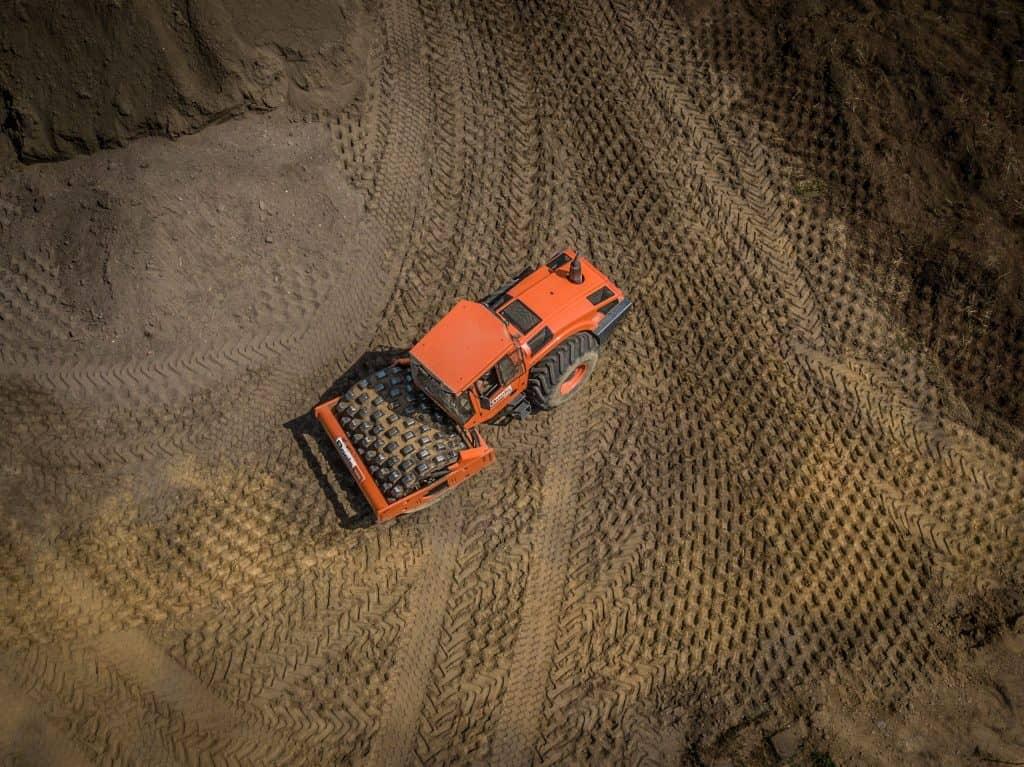 Foto Tractor gemaakt met drone