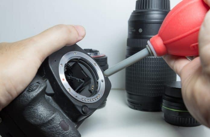 Sensor reinigen camera blaasbalg