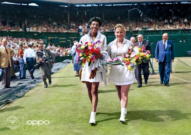 Getty en OPPO kleurden deze historische zwart-witbeelden van Wimbledon in
